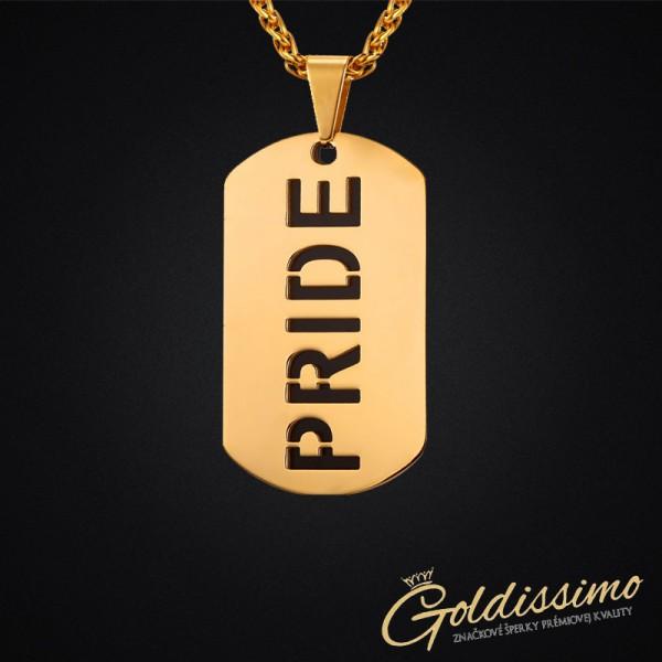 Pozlátená retiazka s príveskom Pride- GOLD 51f628be6c7