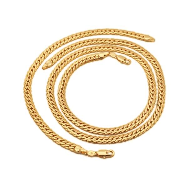 Pozlátena retiazka a náramok 18 karátovým zlatom Miami - Goldissimo a4963b31e4f