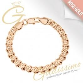 Pozlátený náramok 18 karátovým ružovým zlatom Panama ae4b795a8f0