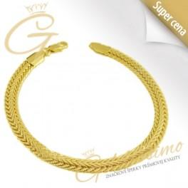 Pozlátený náramok 24 karátovým zlatom Snake c6f7198ea1a